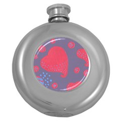 Lollipop Attacked By Hearts Round Hip Flask (5 Oz)