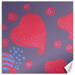Lollipop Attacked By Hearts Canvas 16  X 16