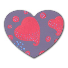 Lollipop Attacked By Hearts Heart Mousepads