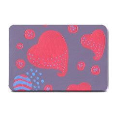 Lollipop Attacked By Hearts Small Doormat