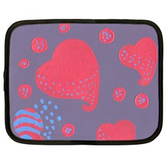 Lollipop Attacked By Hearts Netbook Case (large)