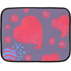 Lollipop Attacked By Hearts Double Sided Fleece Blanket (mini)
