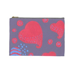 Lollipop Attacked By Hearts Cosmetic Bag (large)