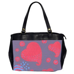 Lollipop Attacked By Hearts Office Handbags (2 Sides)