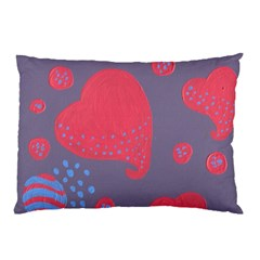 Lollipop Attacked By Hearts Pillow Case (two Sides)