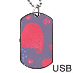 Lollipop Attacked By Hearts Dog Tag Usb Flash (one Side)