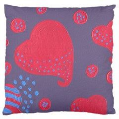 Lollipop Attacked By Hearts Large Cushion Case (two Sides)