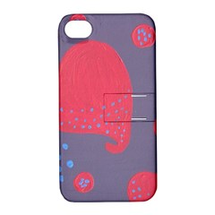 Lollipop Attacked By Hearts Apple Iphone 4/4s Hardshell Case With Stand