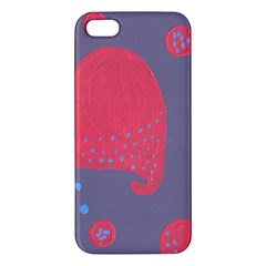 Lollipop Attacked By Hearts Apple Iphone 5 Premium Hardshell Case