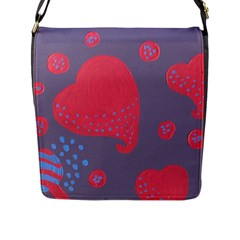 Lollipop Attacked By Hearts Flap Messenger Bag (l)