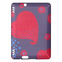Lollipop Attacked By Hearts Kindle Fire Hdx Hardshell Case