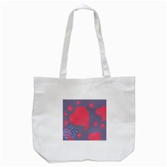 Lollipop Attacked By Hearts Tote Bag (white)