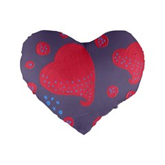 Lollipop Attacked By Hearts Standard 16  Premium Flano Heart Shape Cushions