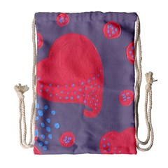 Lollipop Attacked By Hearts Drawstring Bag (large)