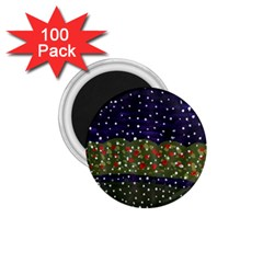 Snowy Roses 1 75  Magnets (100 Pack)