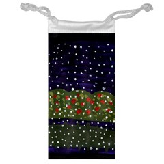 Snowy Roses Jewelry Bag