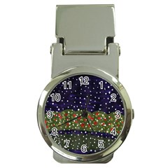 Snowy Roses Money Clip Watches