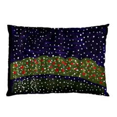 Snowy Roses Pillow Case