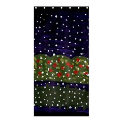 Snowy Roses Shower Curtain 36  X 72  (stall)