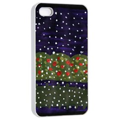 Snowy Roses Apple Iphone 4/4s Seamless Case (white)