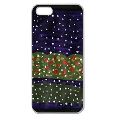 Snowy Roses Apple Seamless Iphone 5 Case (clear)