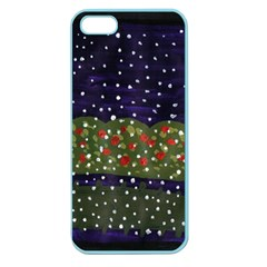 Snowy Roses Apple Seamless Iphone 5 Case (color)
