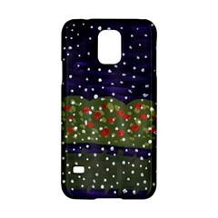 Snowy Roses Samsung Galaxy S5 Hardshell Case