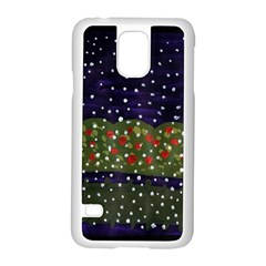 Snowy Roses Samsung Galaxy S5 Case (white)