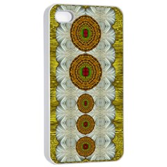 Spring In Mind And Flowers In Soul Be Happy Apple Iphone 4/4s Seamless Case (white)