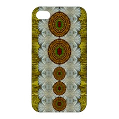 Spring In Mind And Flowers In Soul Be Happy Apple Iphone 4/4s Hardshell Case