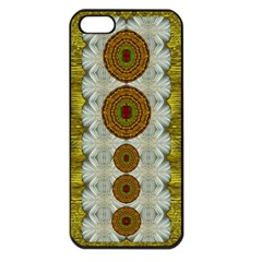 Spring In Mind And Flowers In Soul Be Happy Apple Iphone 5 Seamless Case (black)