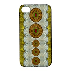 Spring In Mind And Flowers In Soul Be Happy Apple Iphone 4/4s Hardshell Case With Stand