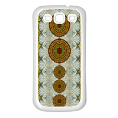Spring In Mind And Flowers In Soul Be Happy Samsung Galaxy S3 Back Case (white)