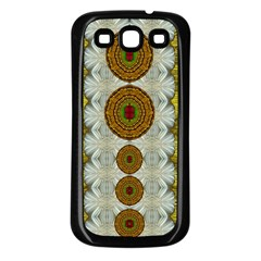Spring In Mind And Flowers In Soul Be Happy Samsung Galaxy S3 Back Case (black)