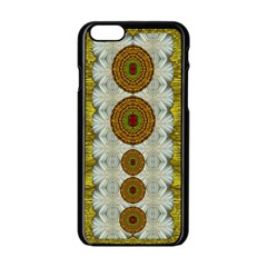 Spring In Mind And Flowers In Soul Be Happy Apple Iphone 6/6s Black Enamel Case