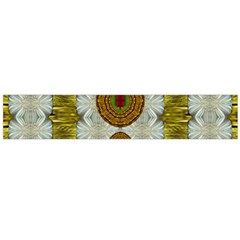 Spring In Mind And Flowers In Soul Be Happy Large Flano Scarf