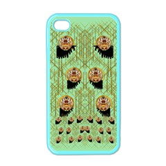 Lady Panda With Hat And Bat In The Sunshine Apple Iphone 4 Case (color)