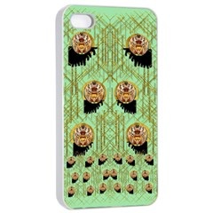 Lady Panda With Hat And Bat In The Sunshine Apple Iphone 4/4s Seamless Case (white)