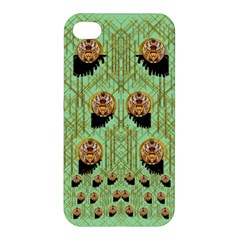 Lady Panda With Hat And Bat In The Sunshine Apple Iphone 4/4s Hardshell Case