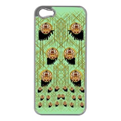 Lady Panda With Hat And Bat In The Sunshine Apple Iphone 5 Case (silver)