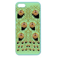 Lady Panda With Hat And Bat In The Sunshine Apple Seamless Iphone 5 Case (color)