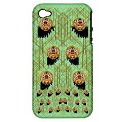 Lady Panda With Hat And Bat In The Sunshine Apple Iphone 4/4s Hardshell Case (pc+silicone)