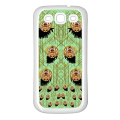Lady Panda With Hat And Bat In The Sunshine Samsung Galaxy S3 Back Case (white)