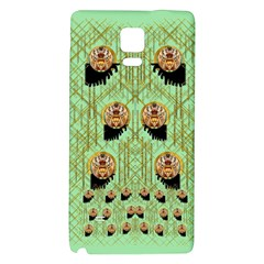 Lady Panda With Hat And Bat In The Sunshine Galaxy Note 4 Back Case