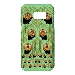 Lady Panda With Hat And Bat In The Sunshine Samsung Galaxy S7 Hardshell Case