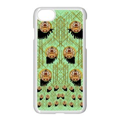 Lady Panda With Hat And Bat In The Sunshine Apple Iphone 7 Seamless Case (white)