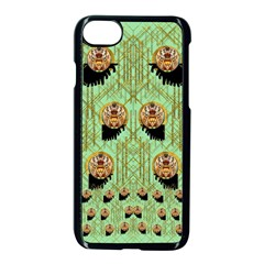 Lady Panda With Hat And Bat In The Sunshine Apple Iphone 8 Seamless Case (black)