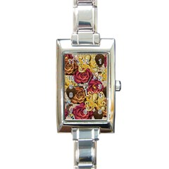 Octopus Floral Rectangle Italian Charm Watch