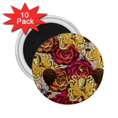 Octopus Floral 2 25  Magnets (10 Pack)