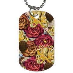 Octopus Floral Dog Tag (one Side)